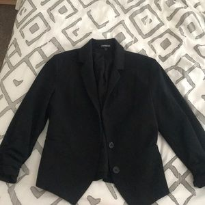 Express Black Blazer with 3/4 Sleeves Size 6